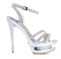 Женские сандалии Brand platform sandals fashion lady's shoes crystal high heels summer wedges pumps shoes women