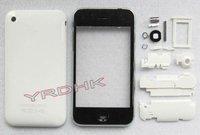 Аксессуары для мобильных телефонов White Full Housing Cover+Bezel+SimTray for Iphone 3G