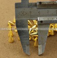 Best Price! 60pcs 10mm Golden Metal Bullet Rivet Spikes Stud Punk Bag Belt Leathercraft Accessories DIY Rock Rivet