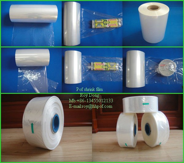clear pof packaging plastic film