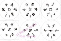 Freeshipping 10pcs Round Stainless Steel Image Plate + 1 stamp + 1 scrap Nail Art Stamping set dropshipping [Retail] SKU:XC3012