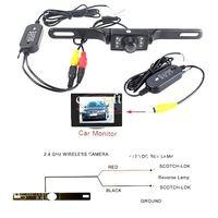 Система помощи при парковке 2.4G WIRELESS Module adapter for Car Reverse Rear View backup Camera cam