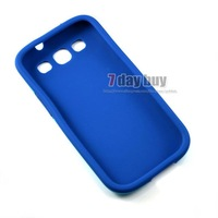 Чехол для для мобильных телефонов Metal Aluminum Case For Galaxy Siii 9300 with Soft Silicone Protector Cover For Samsung
