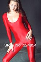 Мужской эротический костюм Lycra spandex zentai catsuit costumes clothing Christmas gift red