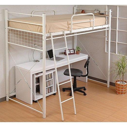 Frame da cama de beliche do metal com espa o de armazenamento bib 006 camas de metal id do - Cama con escritorio abajo ...