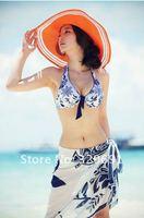 Женское платье Kawaii popular seaside beach blue and white match