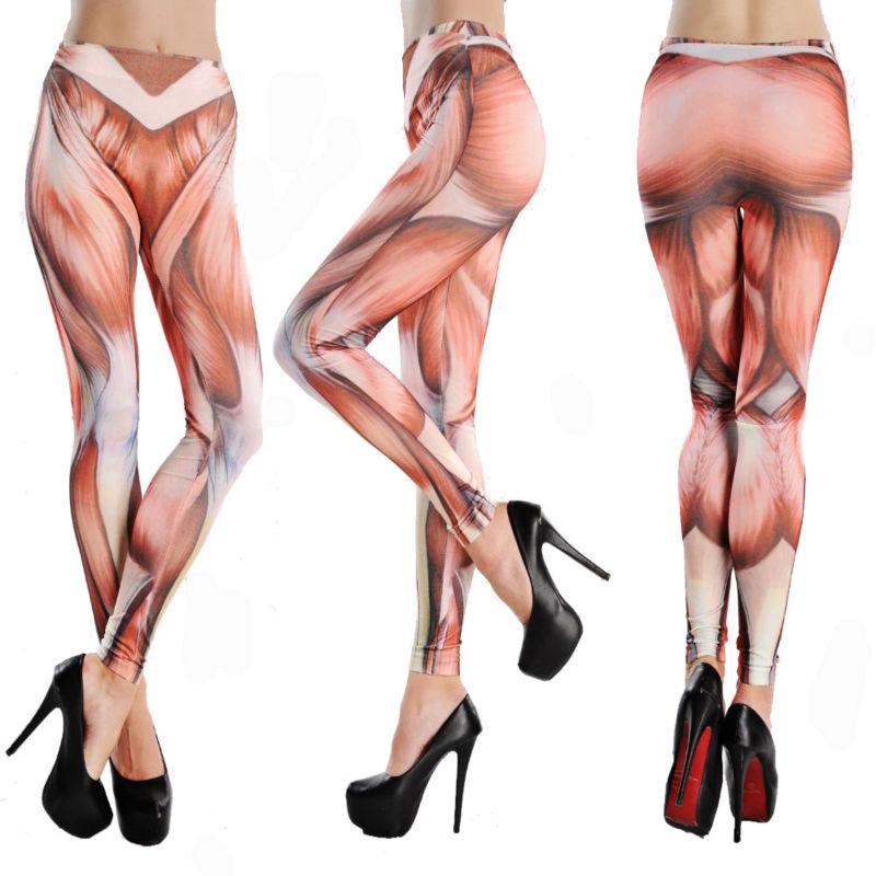 Легинсы рисунок на одну ногу