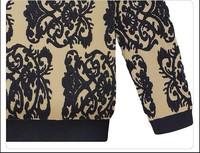 Женский кардиган 2013 new winter coat knitted sweater print long-sleeve blouse European and American women new 5009