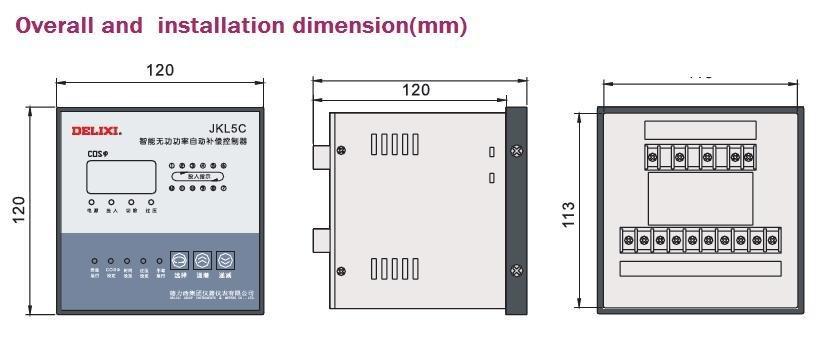DELIXI brand JKL5C Series Power Factor Reactive static Auto-Compensation Controller