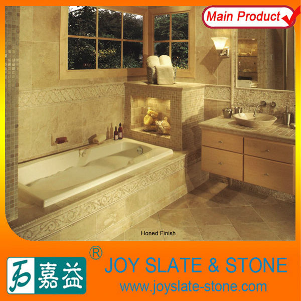 natural yellow limestone split face stone tile