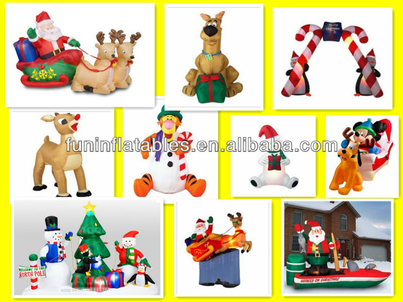 Beautiful Design, Colourful Christmas Theme Inflatable Slide