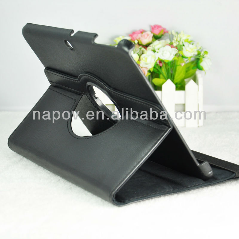 Napov -high quality flip leather hard case for samsung galaxy tab 10.1