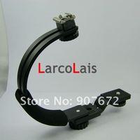 Аксессуары и Запчасти для фотокамер Stabilizing Handle C-Shape Bracket for Flashlight Video Speedlite DC DSLR SLR Camera DV Camcorder Video lights