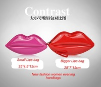 Вечерняя сумка Fashion Fashion Sexy lips Clutch Bag Womens Portable Handbags Unique Design Night Purse eveing candy color