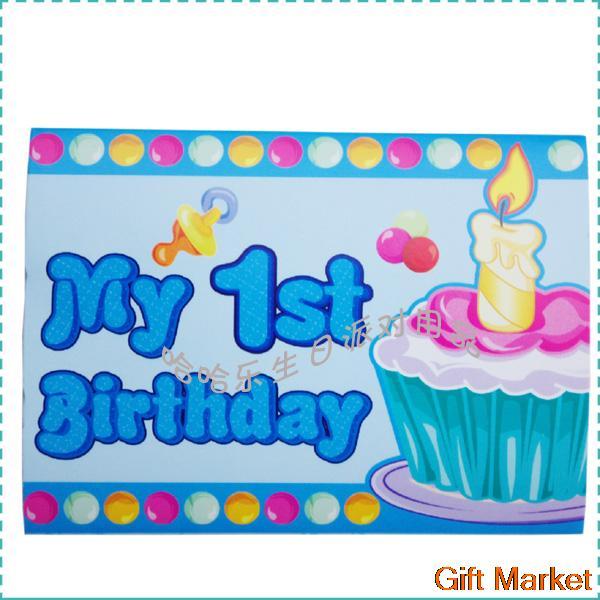 10 unids/lote feliz cumpleaños decoración de dibujos animados azul ...