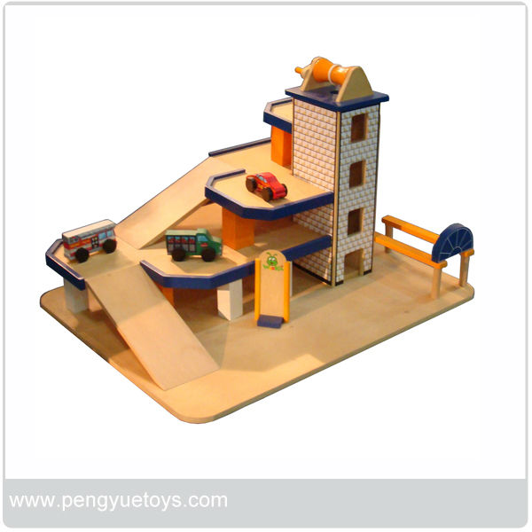 Plan Toys Parking Garage Wooden Set – Plan Toys Car Garage