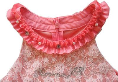 new fashion orange-pink chiffon kids dresses for girls