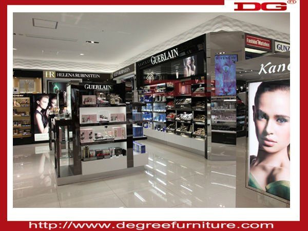 Fashionable cosmetics shop decoration interior design, View