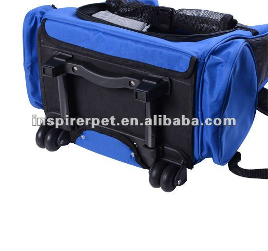 Pet Luggage Box Backpack Carrier Bag With Wheels