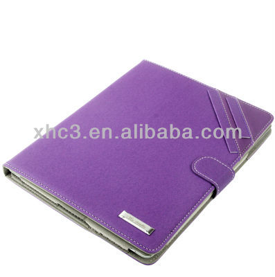 New arrival for iPad 4 leather case with stand