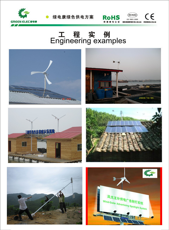 Wholesales Beautiful Appearance 300w Wind Generator Turbine Windmill For LED Lights