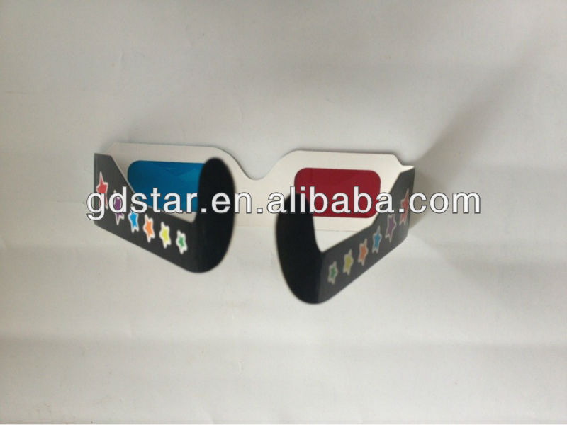 Promotional party custom 3d paper glasses