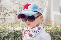 Шапка для мальчиков 1pc 7 colors New Children's baseball cap kids obey snapback caps Baby Five-pointed star patch denim sun cap