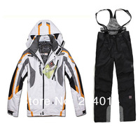 Мужская куртка для лыжного спорта brand men's winter outdoor waterproof windrpoof ski suit skiing snowboarding suit jacket and pants ski coat