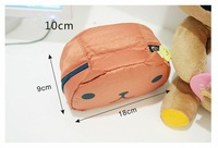 Косметичка Merry Christmas! Cute Foldable Lady Makeup Cosmetic Container Hand Case Pouch Bag Mirror JHB-040