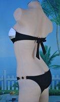 Женское бикини New Hot Sexy Ladies Swimwear Strapless Bandeau Pad Top Ring Bikini Swimsuit Pant