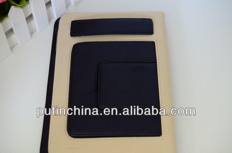 Sublimation Corner protection wrist strap PU leather case for ipad mini