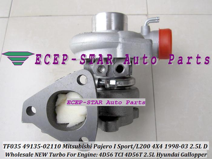 ECEP TF035 49135-02110 Turbo Turbocharger For Mitsubishi Pajero I Sport L200 4X4 2.5LD 1998-03 HYUNDAI Gallopper 2.5L 4D56 TCI 4D56T with gaskets (1).JPG