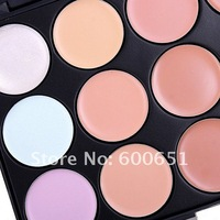 Маскирующие карандаши, Крема 15 Color Concealer Camouflage Makeup Palette Set, Dropshipping