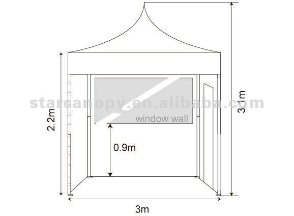 Marquee/Canopy/Gazebo tent steel 3*3m