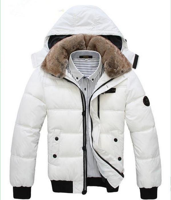 Белый теплый пуховик фото