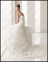 Свадебное платье EM-A026 Luxurious A-line Strapless Sweetheart New Style Designer Wedding Dress With 3D Flowers