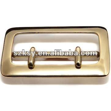Shiny nickel metal belt buckle