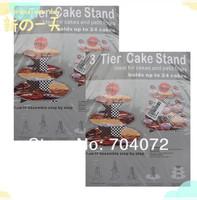 3 уровня мультфильм автомобили cupcake стенд дисплей happy bithday держатель бумаги торт