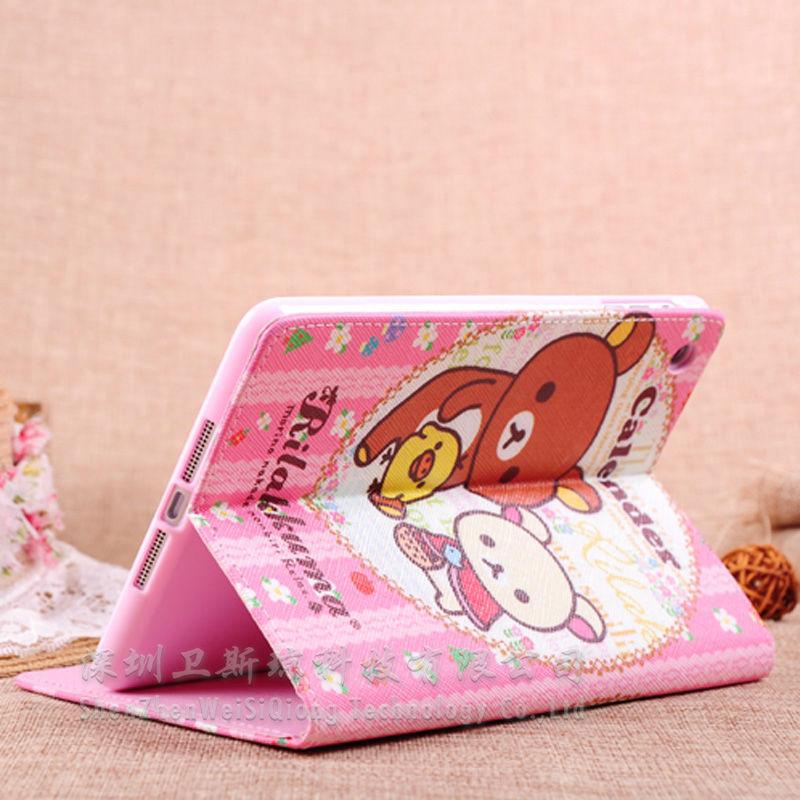 PU+TPU Cartoon Leather Case For iPad Mini, Cover For Mini iPad