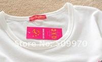 Free shipping Colorful Strip Ladies Women's Summer Autumn Ladies Vivi Tight Cartoon Logo short T shirt