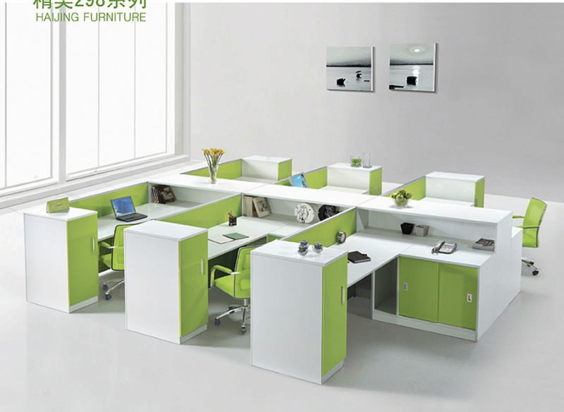Functional open space 6 seats workstation office furniture