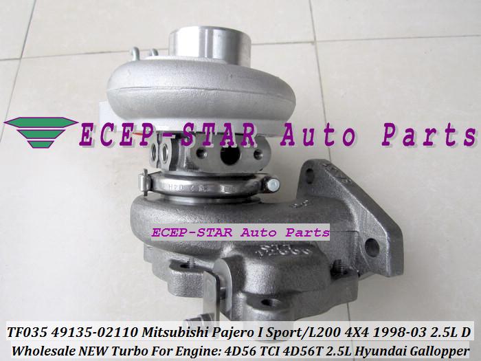 ECEP TF035 49135-02110 Turbo Turbocharger For Mitsubishi Pajero I Sport L200 4X4 2.5LD 1998-03 HYUNDAI Gallopper 2.5L 4D56 TCI 4D56T with gaskets (4).JPG
