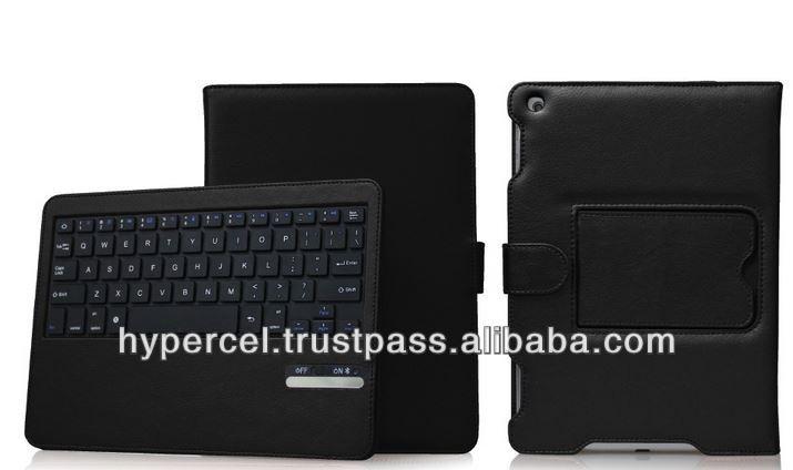 Naztech Sleek Portfolio Case with Detachable Bluetooth Keyboard for iPad Air - Black