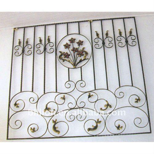 la decoración de ventana de hierro forjado de la parrilla de hierro