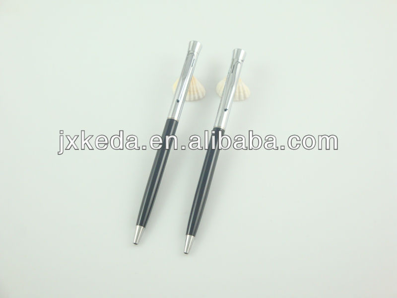 2014 new style best seller smoothy writing metal twist ball pen slim