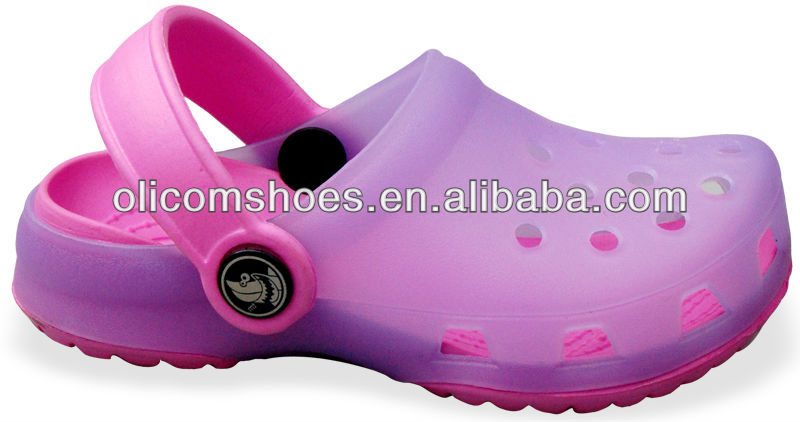 Jelly PVC upper transparent upper EVA insole Kid garden clogs