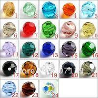 Бисер для одежды 2012 Grade AAA 5000 6mm 1000pcs/bag jonquil color Crystal round Beads