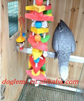 Bird PARROT Happy Hut birds wood swing toys parts wood