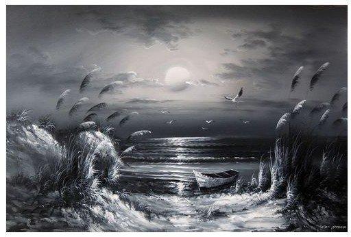 Monochrome Oil Paintings - 33