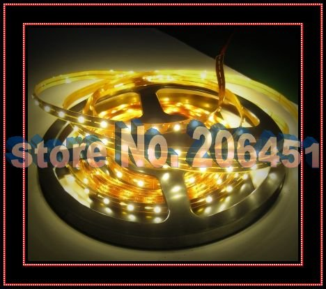 White 12V 300pcs 3528Nonwaterproof  Flexible LED Strip 3528 White Color LED Light Lamp 3528 Nonwaterproof LED Ribbon